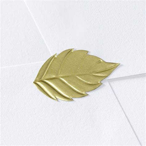 gold wedding seals for envelopes blank leaf wedding seal invitations by