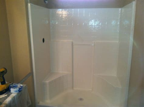 bathroom stall installation new shower for sun city lincoln home owners ronald t