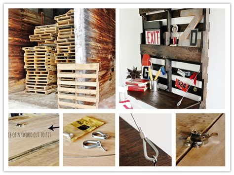 Fold Up Home How To Re Purpose A Pallet Into A Fold Up Home Office Desk