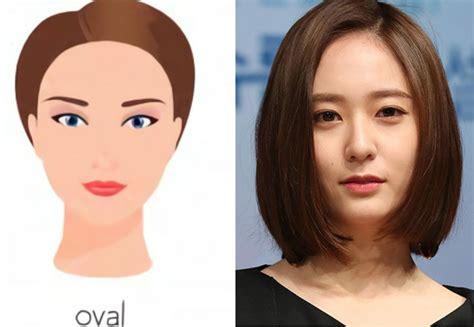 model rambut wanita wajah oval   menonjolkan