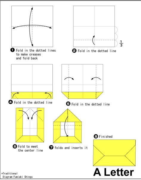 how to make a letter envelope origami letter