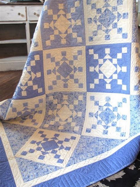 Blue And White Quilts For Sale Snowflake Was For Sale At Hill Quilt Shoppe