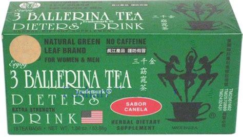Ballerina Detox Tea Reviews by 1 Box Of 3 Ballerina Tea Dieters Drink Strength