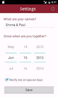 Relationship Tracker App My Relationship Counter App Report On Mobile
