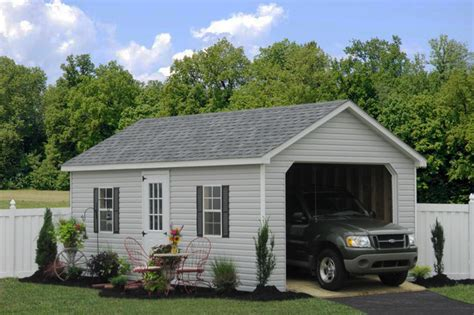 single car garages prefab one car garage sheds traditional garage and