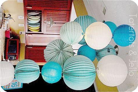 Make Paper Lantern - make a paper lantern chandelier paper lanterns blue