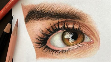 how to draw with colored pencils how to draw a realistic eye with colored pencils part 1