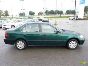1999 Honda Civic Sedan Clover Green Pearl 1999 Honda Civic Lx Sedan Exterior