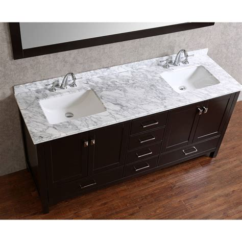 Where To Buy Bathroom Vanities Buy Vincent 72 Inch Solid Wood Bathroom Vanity In Espresso Hm 13001 72 Wmsq Esp