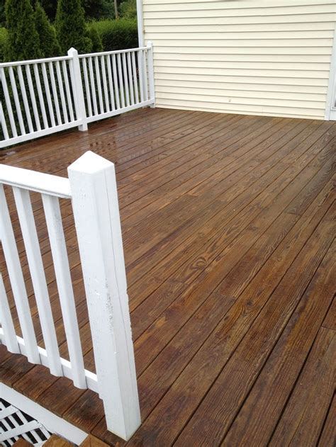 pressure treated wood decking and white painted trim new look decks decks and more