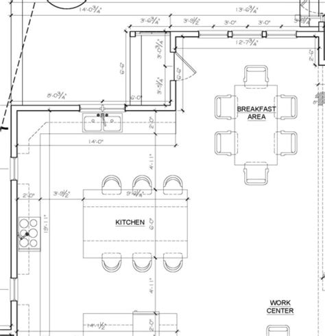kitchen layout sizes kitchen island size