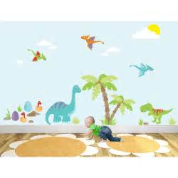 Wall Stickers Dinosaurs luxury dinosaur nursery wall art sticker scenes