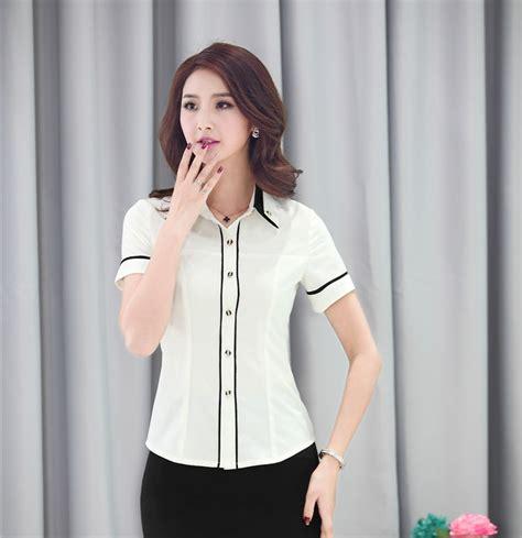 uniforme blusas para damas de moda del verano camisas mujer blusas de manga corta