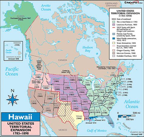 map of us states and hawaii hawaii historical map united states territorial expansion