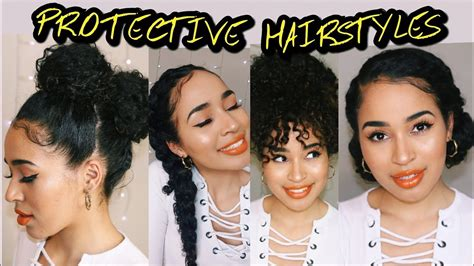 Easy Protective Hairstyles by 4 Easy Protective Hairstyles For Naturally Curly Hair