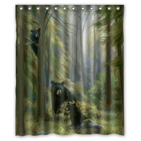 black bear shower curtain 60 quot x72 quot inches shower curtain black bear family in the