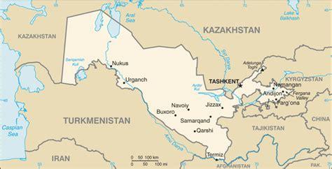 usbekistan regionen karte usbekistan geographie und karte