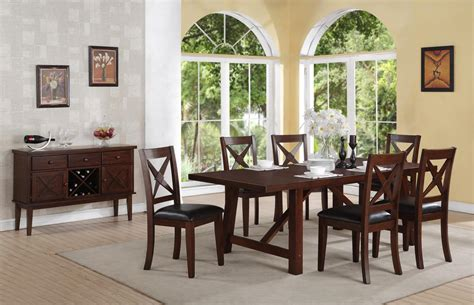 transitional dining room sets rubi transitional medium wood casual dining set with sideboard rpcmo37