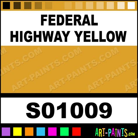federal highway yellow industrial tough coat enamel paints s01009 federal highway yellow