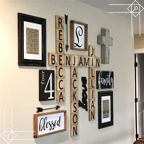 diy farmhouse scrabble wall decorating ideas diy
