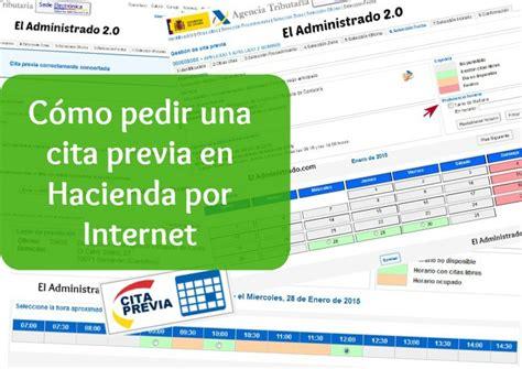 cita para hacienda por internet 2016 c 243 mo pedir una cita previa en hacienda el administrado 2 0