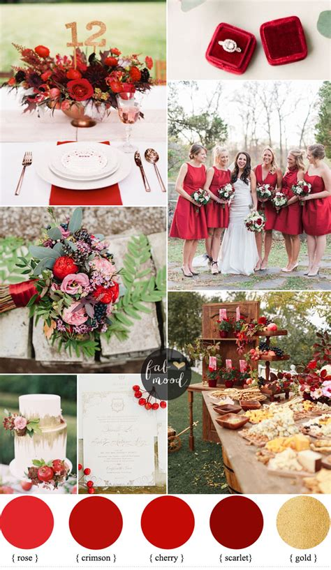 colour themes with red red wedding theme for classic brides