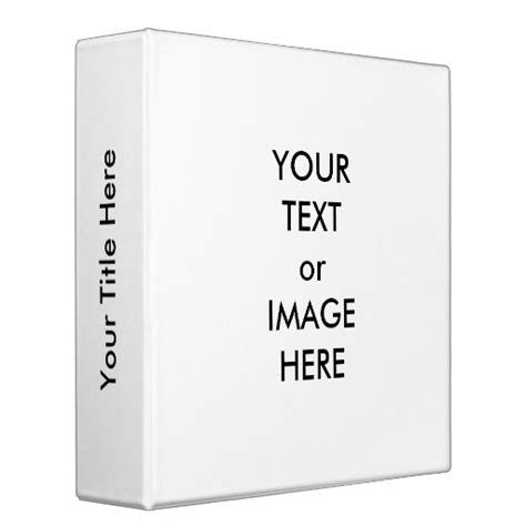 ring binder label template create your own 2 quot binder template white zazzle