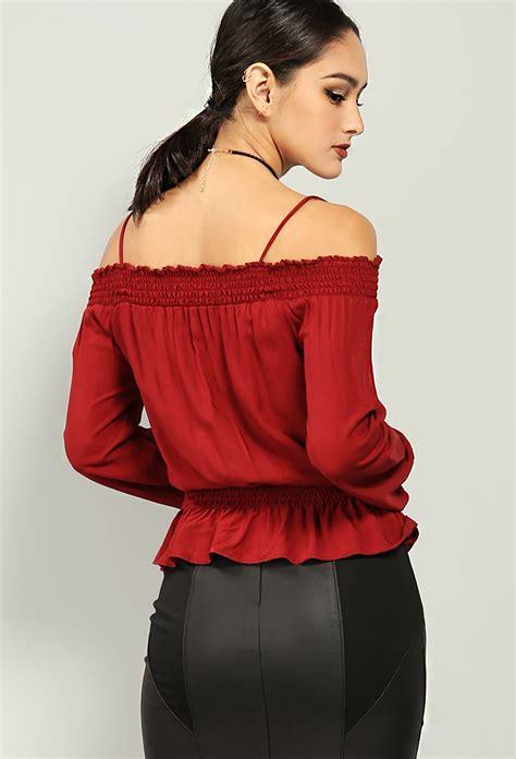 Shoulder Lace Up Lace Top lace up the shoulder top shop tops at papaya