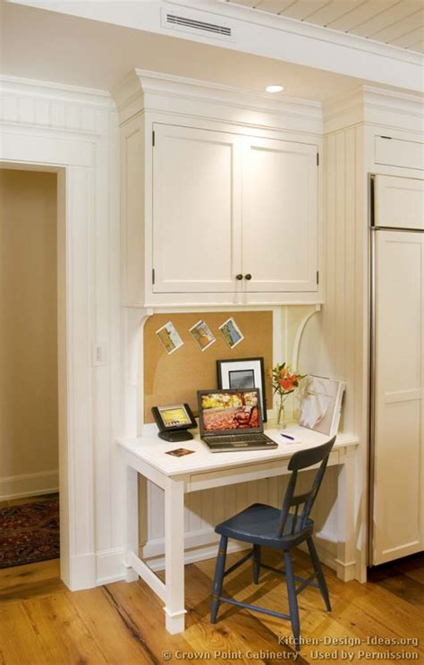 Desk In Kitchen Design Ideas Pictures Of Kitchens Traditional White Kitchen Cabinets Kitchen 123