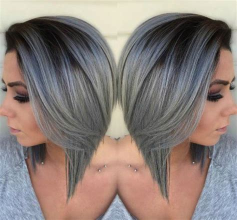 short silver hairstyle called beautiful silver ombre hairstyles for short hair ombre