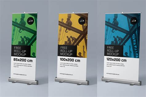 design banner mockup 10 rollup mockups freecreatives
