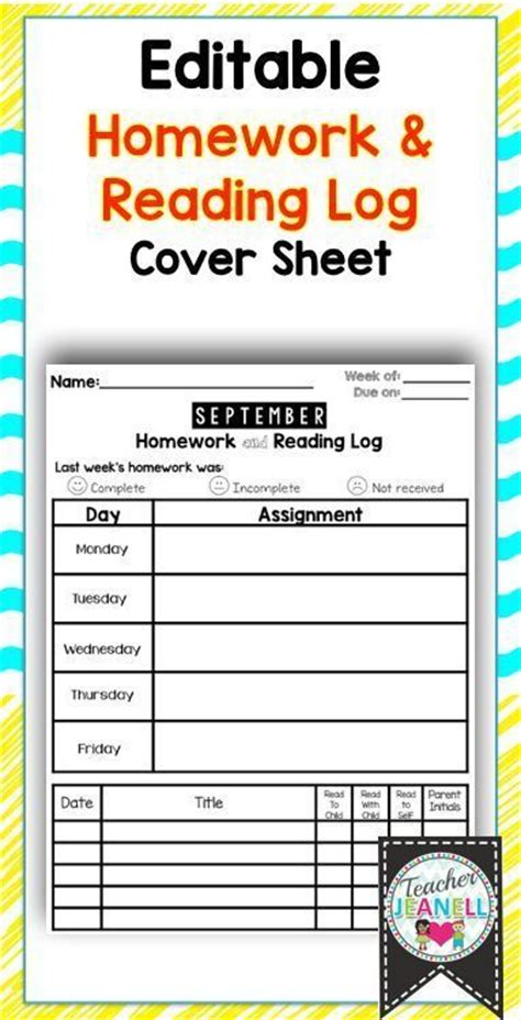 1000 ideas about weekly homework sheet on pinterest