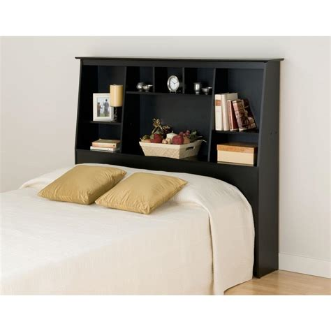 prepac sonoma black headboard bsh 6656 the home depot