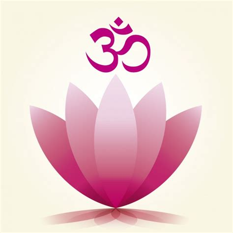 lotus flower symbol om symbol and lotus flower vector free