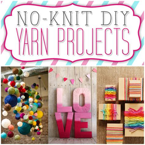 no knit diy yarn projects the cottage market