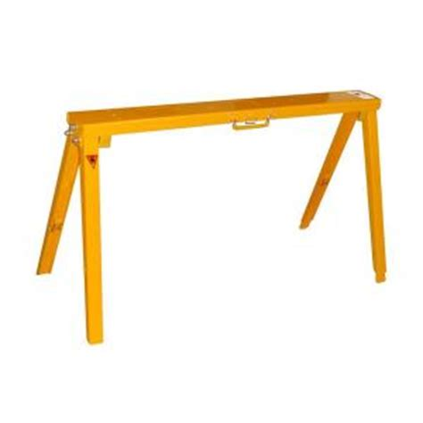 Home Depot Saw Horses by 34 In Adjustable Folding Sawhorse Sh3801 The Home Depot