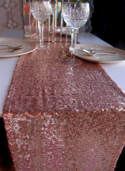 12 table runner sequin table runner copper 12 x 108
