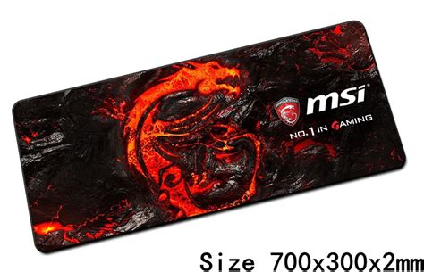 Mousepad Msi msi mouse pads 70x30cm pad to mouse notbook computer mousepad best seller gaming mousepad gamer