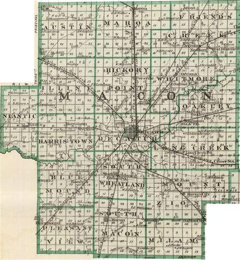 Macon County Il Search Macon County Illinois 1876 Historic Map Reprint