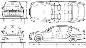 car blueprints 2004 bmw 5 series e60 523li sedan blueprint