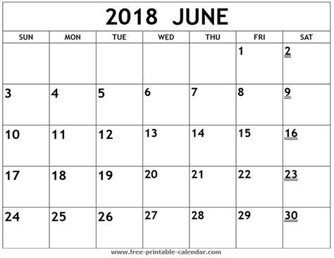 printable 2018 june calendar print 2018 calendar