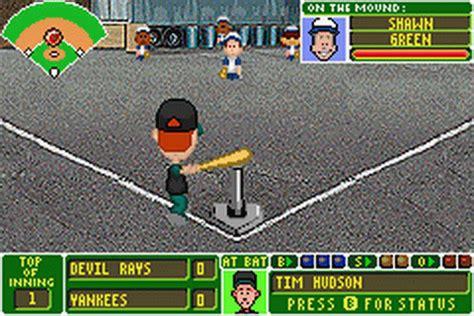 Backyard Baseball Rom Pc Play Backyard Baseball Nintendo Boy Advance