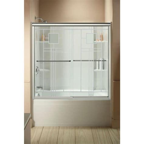 sterling bathtub doors sterling finesse 59 5 8 in x 55 3 4 in semi frameless