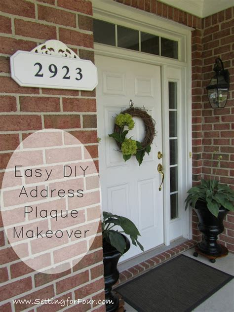 easy diy address plaque makeover setting
