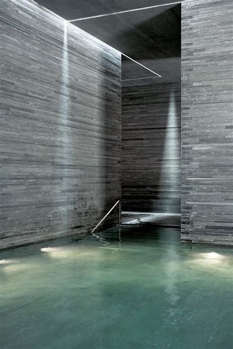 Zumthor Vals by Thermal Baths In Vals By Zumthor