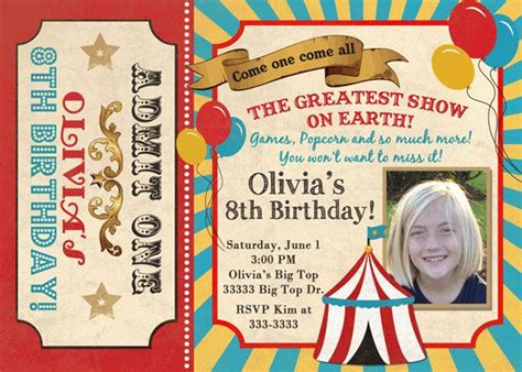 printable circus tickets vintage look carnival circus ticket big top birthday party