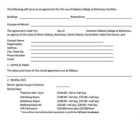 doc 722952 generic rental agreement free rental