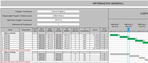 Cronoprogramma Lavori Excel Download