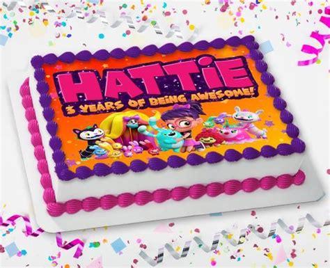 abby hatcher fuzzly catcher custom  art cake topper