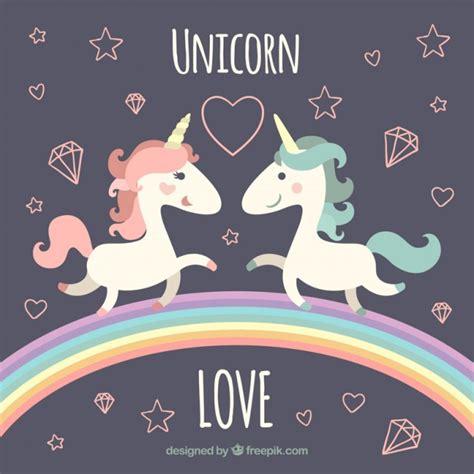 imagenes de unicornios y arcoiris bonitos unicornios en el arcoiris descargar vectores premium